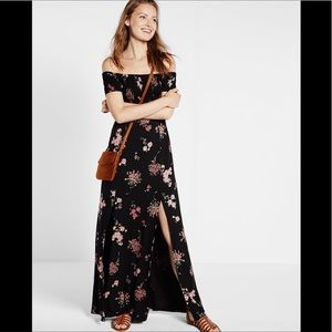 EXPRESS off the shoulder maxi dress